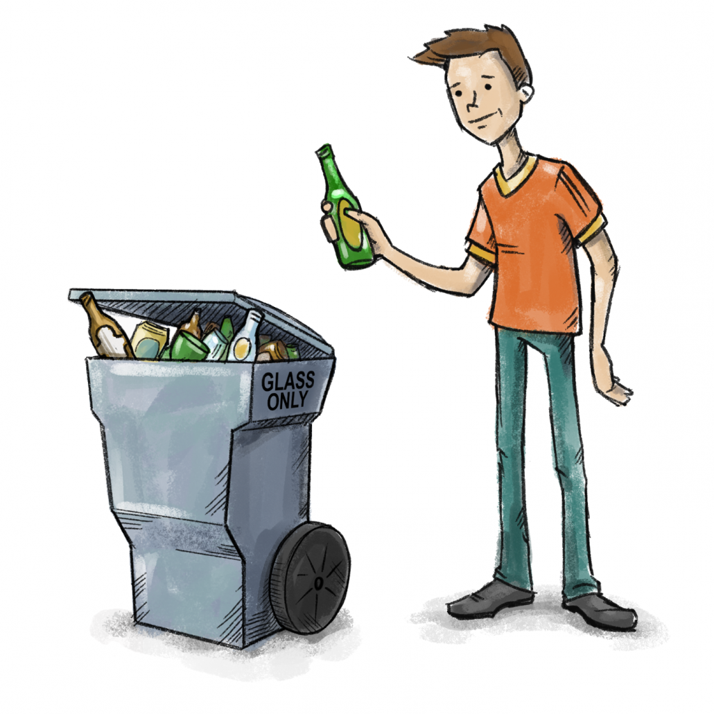 Curbside Glass Recycling Service