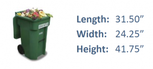Green Waste Service Cart Dimensions
