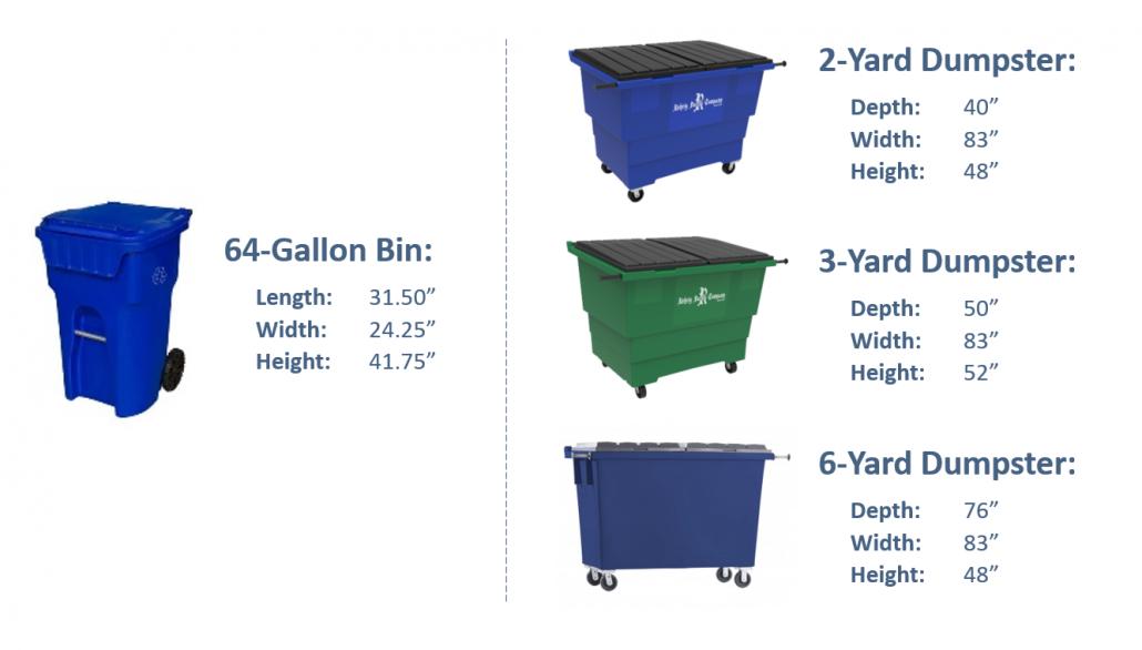 Bin & Dumpster Dimensions