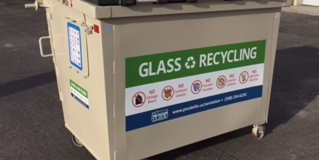 Pocatello Glass Recycling Bin