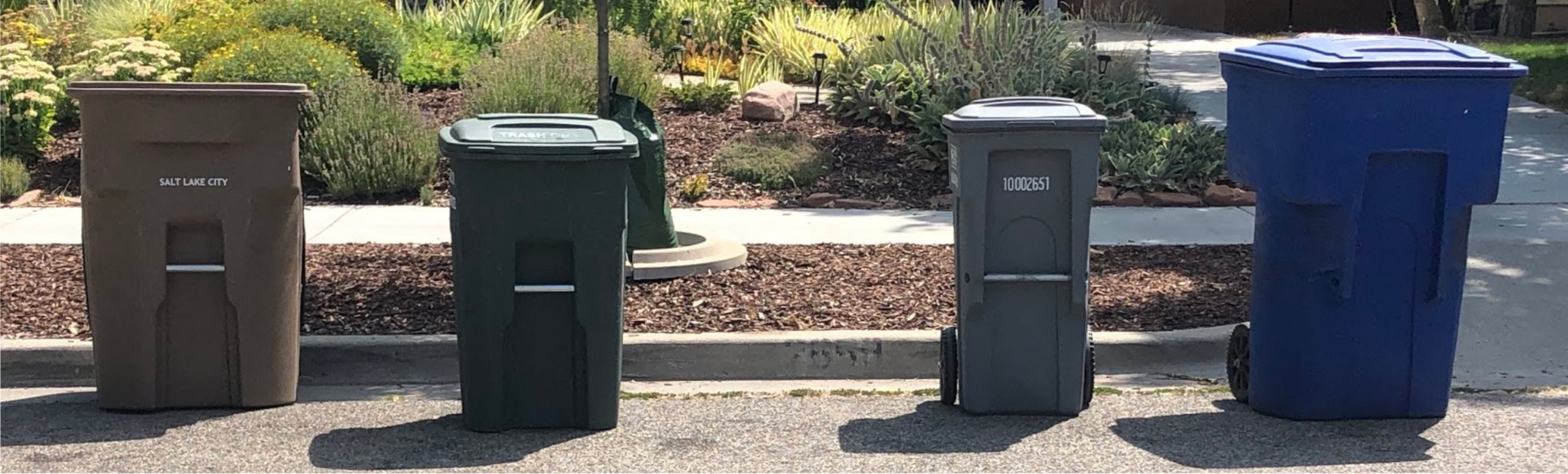 Curbside Bins with Glass Recycling Cart
