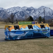 Sugarhouse Park Glass Recycling Dumpster Mural